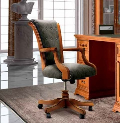 Camel Torriani Day Walnut Italian Wheels Armchair