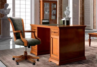 Camel Torriani Day Walnut Italian 1 Door Writing Desk