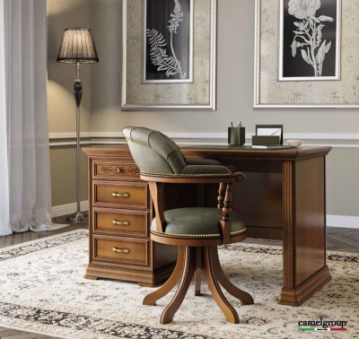 Camel Torriani Day Walnut Italian Writing Desk