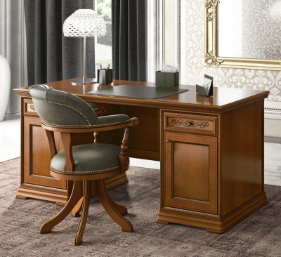 Camel Torriani Day Walnut Italian 2 Door Writing Desk