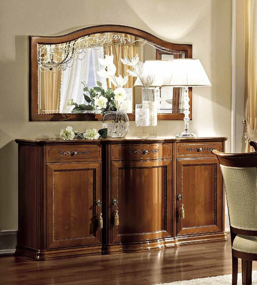Camel Torriani Day Walnut Italian Large Buffet Sideboard