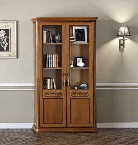 Camel Torriani Day Walnut Italian 2 Door Bookcase
