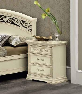 Camel Torriani Night Ivory Italian Bedside Cabinet
