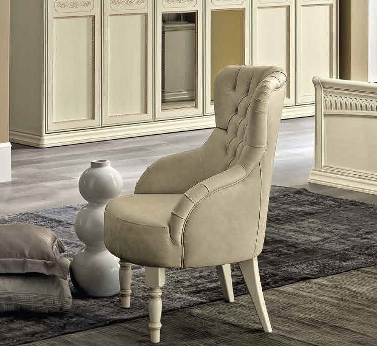 Camel Torriani Night Ivory Italian Capitonne Armchair