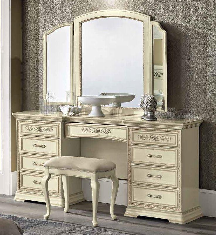 Camel Torriani Night Ivory Italian Maxi Vanity 9 Drawer Dresser