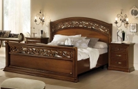 Camel Torriani Night Botticelli Walnut Italian 5ft King Size Bed with Footboard