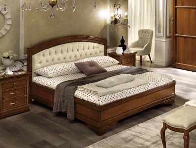 Camel Torriani Night Walnut Giorgione Italian Ring Bed with Storage
