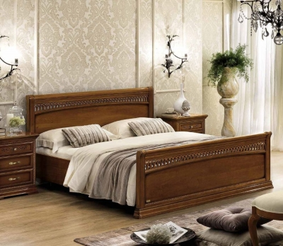 Camel Torriani Night Walnut Tiziano Italian Footboard Bed