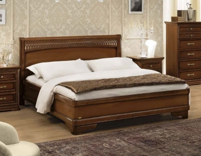 Camel Torriani Night Walnut Tiziano Italian Ring Bed with Storage