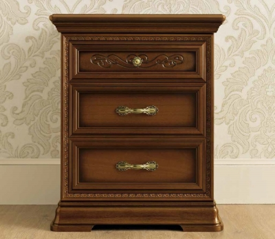 Camel Torriani Night Walnut Italian Bedside Cabinet