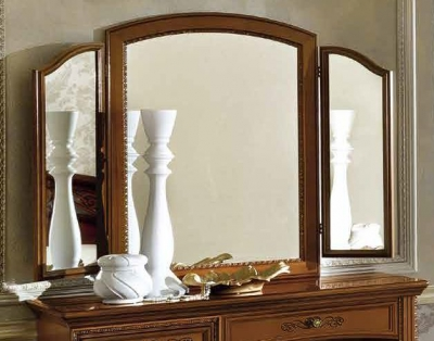 Camel Torriani Night Walnut Italian Vanity Mirror