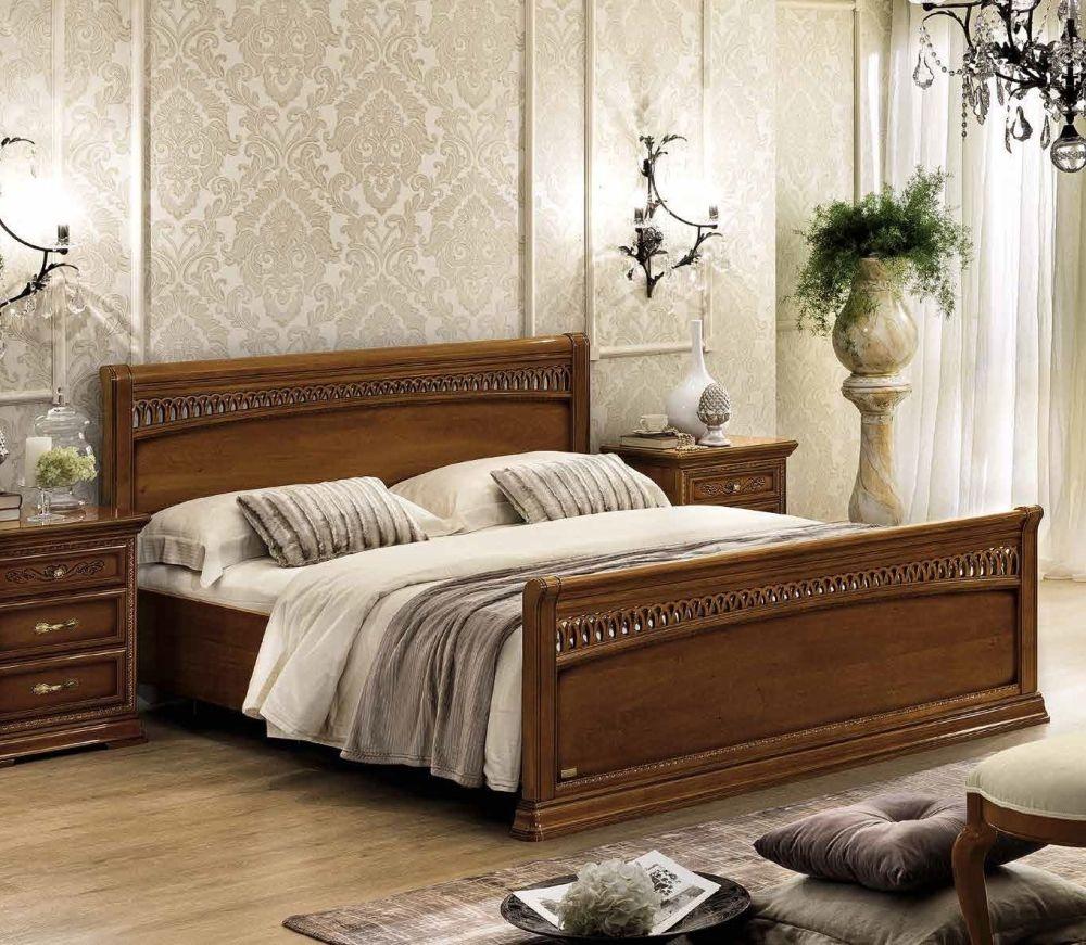 Camel Torriani Night Walnut Tiziano Italian Footboard Bed
