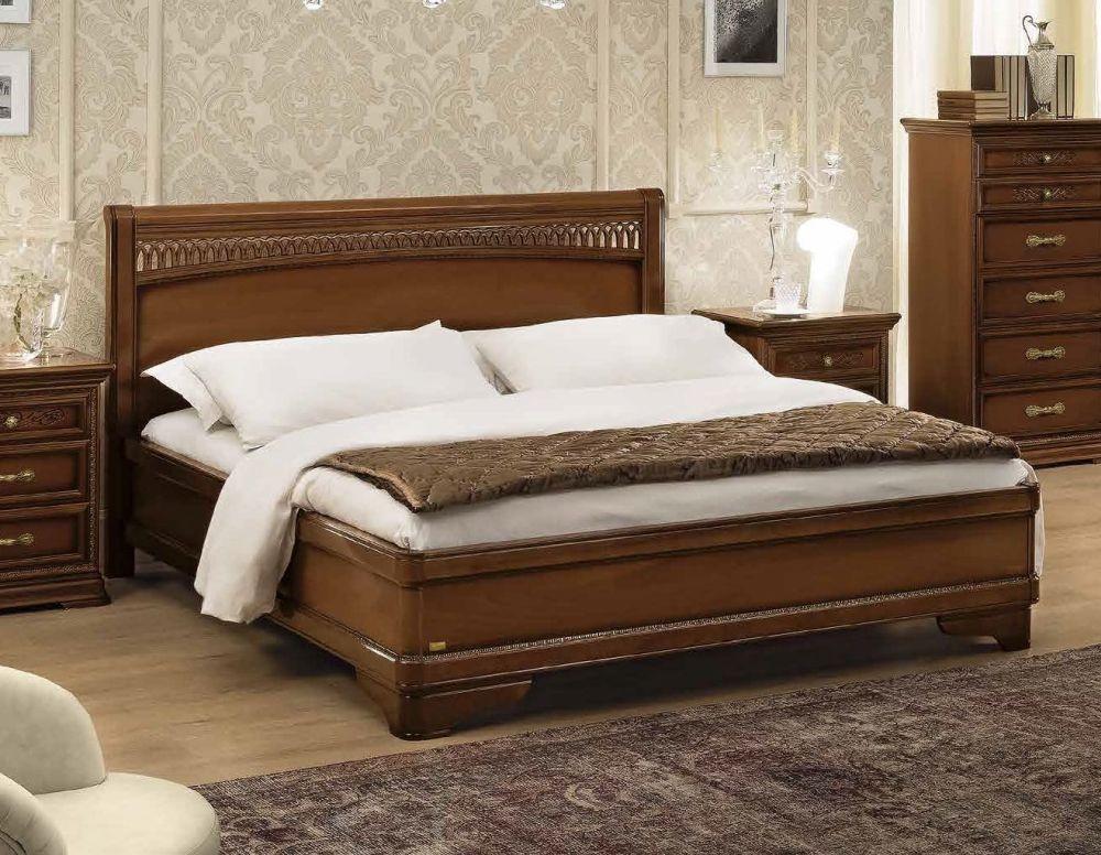 Camel Torriani Night Walnut Tiziano Italian Ring Bed with Storage