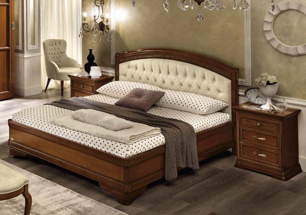 Camel Torriani Night Giorgione Walnut Italian Ring Bed
