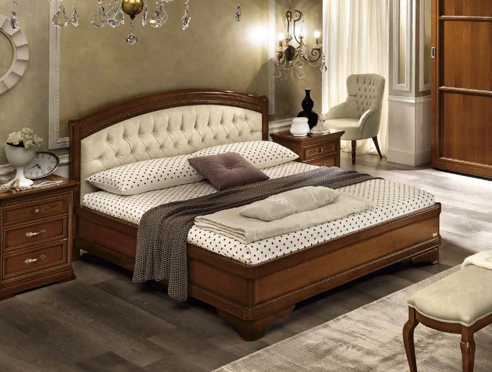 Camel Torriani Night Walnut Giorgione Italian Ring Bed