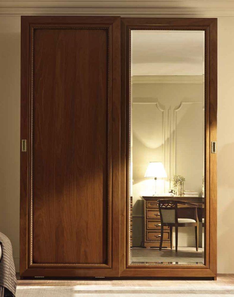 Camel Torriani Night Walnut Italian 2 Flat Door Sliding Wardrobe