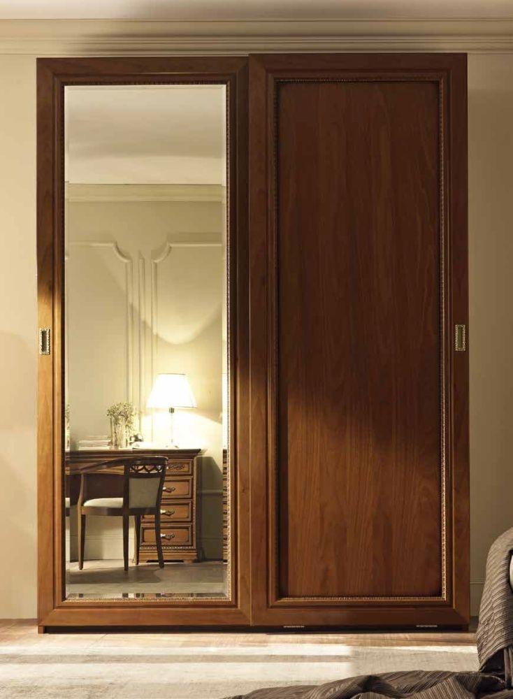 Camel Torriani Night Walnut Italian Piana Door Sliding Wardrobe