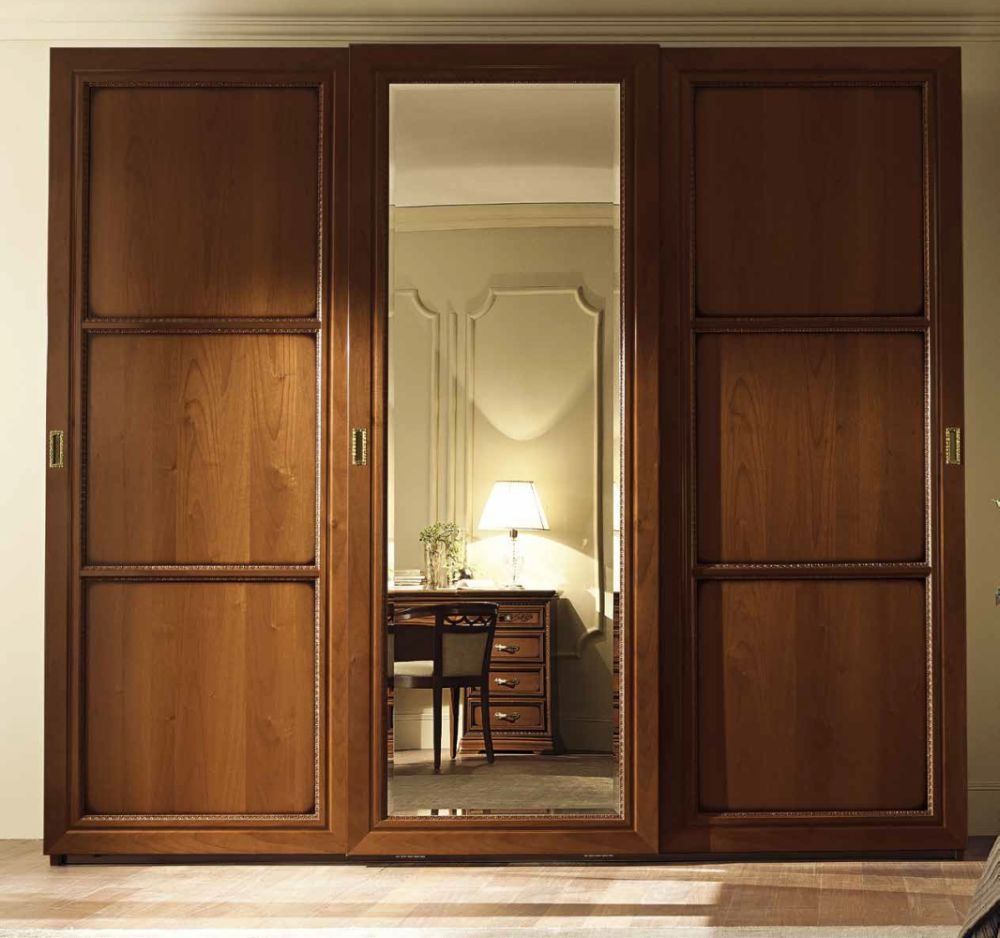 Camel Torriani Night Walnut Italian 3 Terna Door Sliding Wardrobe