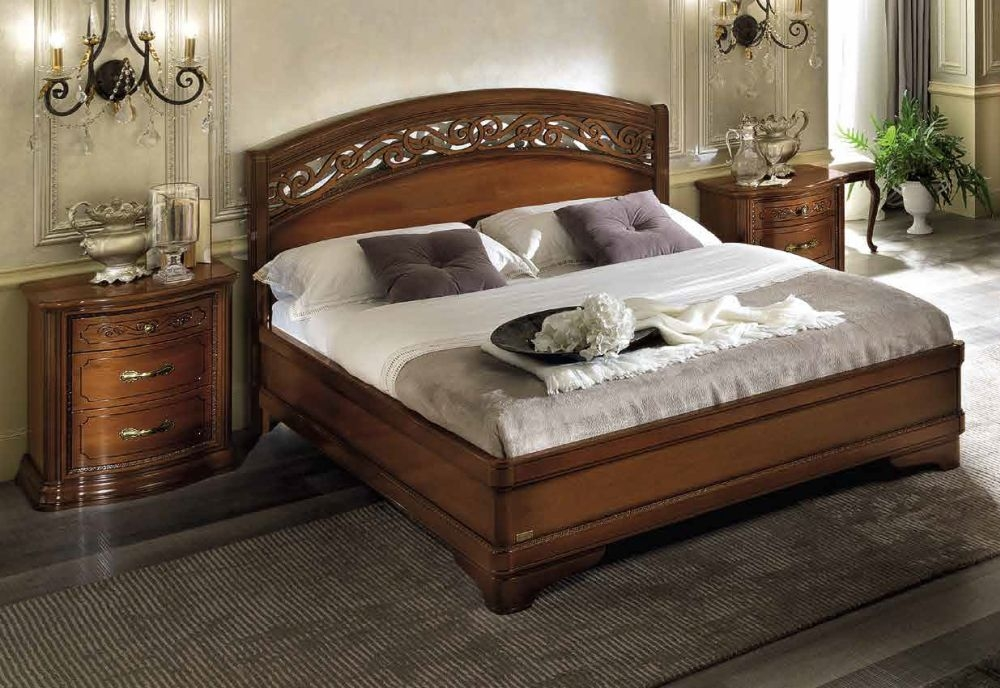 Camel Torriani Night Walnut Italian Storage Bed