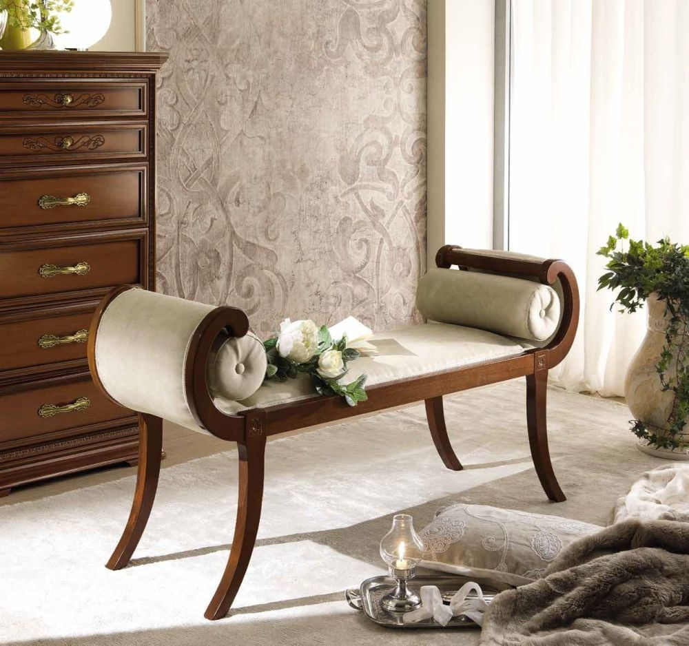 Camel Torriani Night Walnut Italian Bench