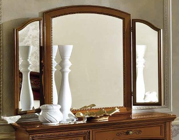 Camel Torriani Night Walnut Italian Vanity Mirror