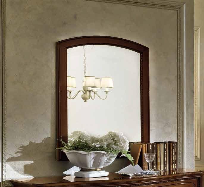 Camel Torriani Night Walnut Italian Rectangular Mirror