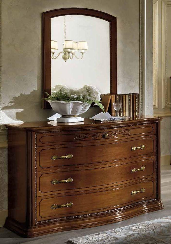 Camel Torriani Night Walnut Italian VIP 4 Drawer Dresser
