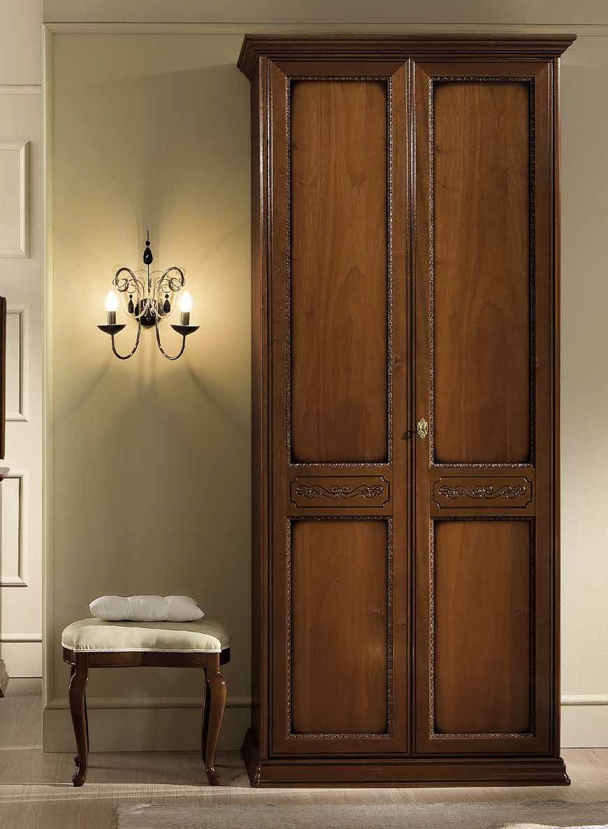 Camel Torriani Night Walnut Italian Wardrobe