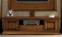 Camel Treviso Day Cherry Wood Italian 2 Door 1 Drawer Maxi TV Cabinet