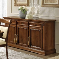 Camel Treviso Day Cherry Wood Italian 3 Door 3 Drawer Buffet