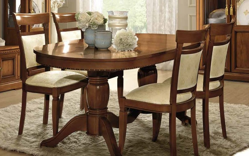 Camel Treviso Day Cherry Wood Italian Extending Dining Table