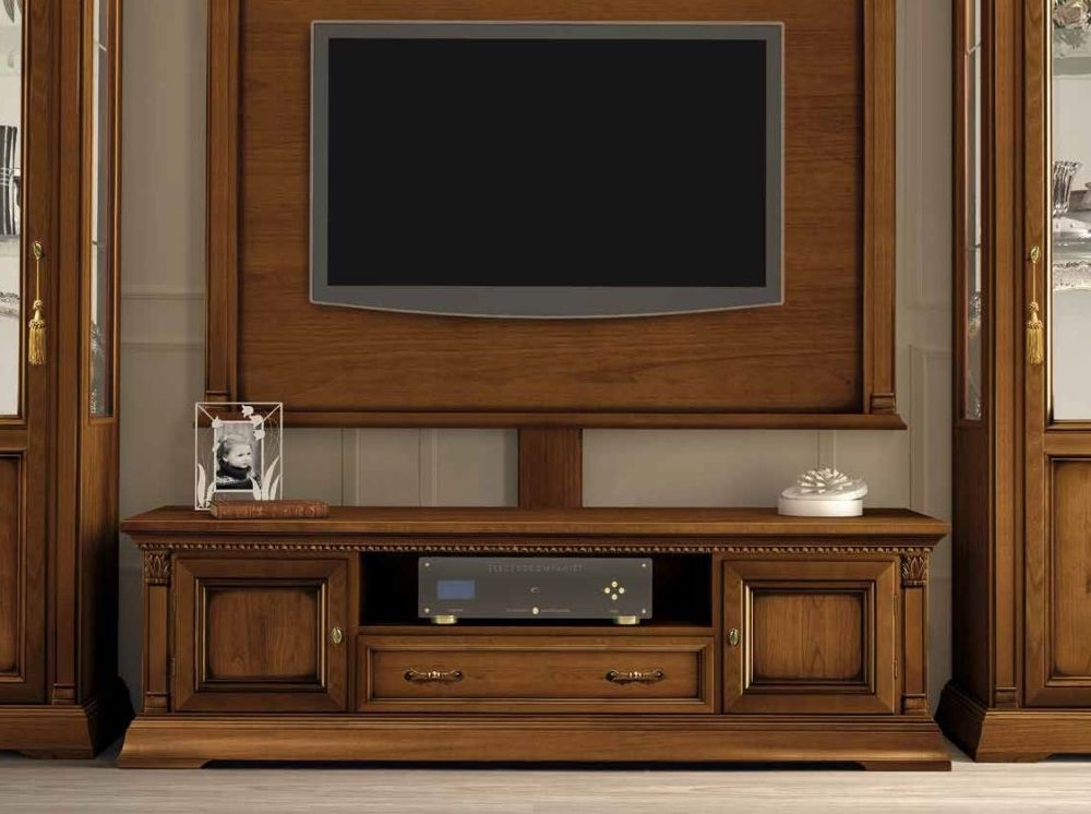 Camel Treviso Day Cherry Wood Italian Maxi TV Cabinet