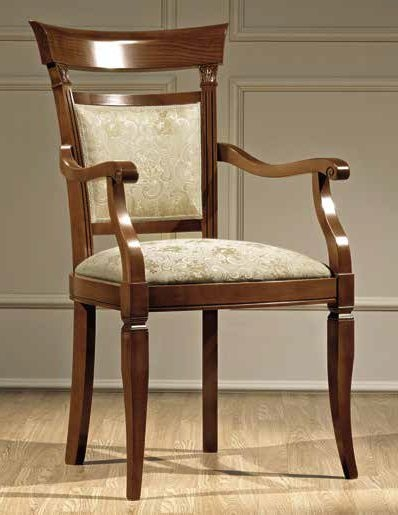Camel Treviso Day Cherry Wood Italian Armchair