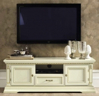 Camel Treviso Day White Ash Italian 2 Door 1 Drawer Midi TV Cabinet