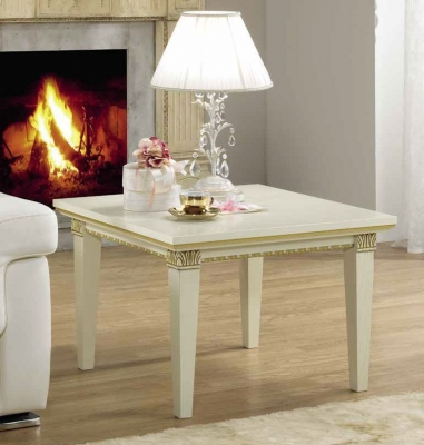 Camel Treviso Day White Ash Italian Lamp Table
