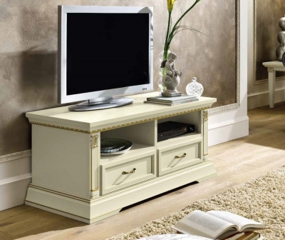 Camel Treviso Day White Ash Italian Mini TV Cabinet