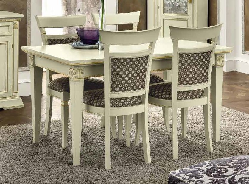 Camel Treviso Day White Ash Italian Extending Dining Table and Chairs