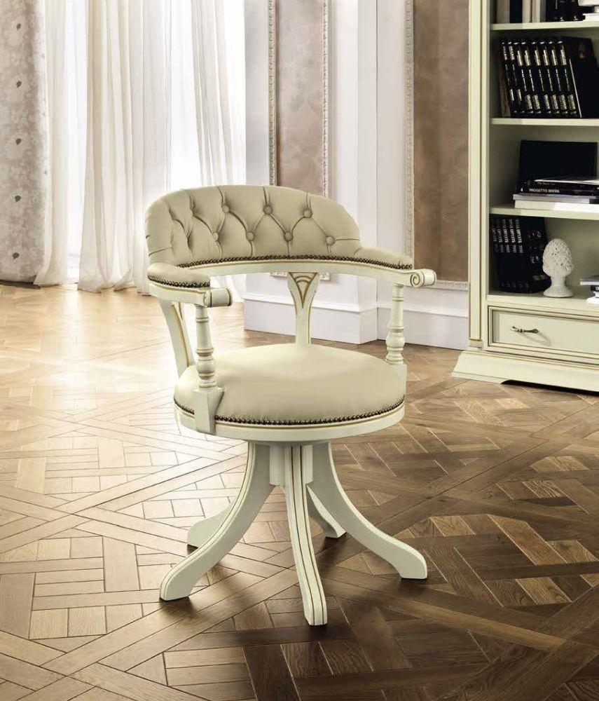 Camel Treviso Day White Ash Italian Swivel Chair