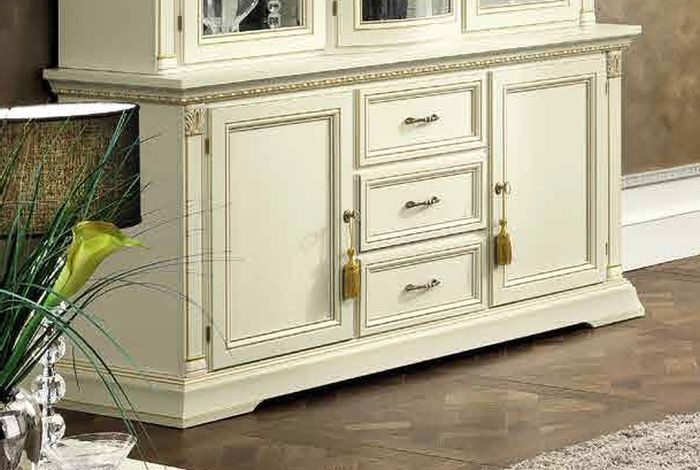 Camel Treviso Day White Ash Italian 2 Door Buffet Sideboard