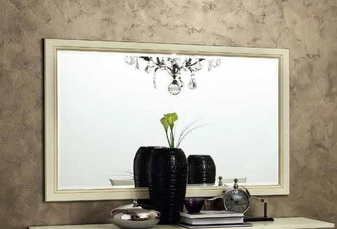 Camel Treviso Day White Ash Italian Rectangular Mirror - 140cm x 90cm