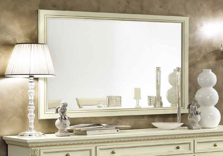 Camel Treviso Day White Ash Italian Rectangular Mirror - 140cm x 2.5cm