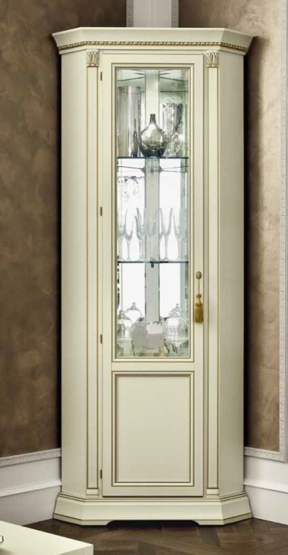 Camel Treviso Day White Ash Italian 1 Left Door Corner Unit
