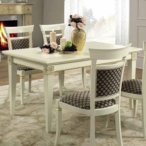 Camel Treviso Day White Ash Italian 140cm Rectangular Extending Dining Table