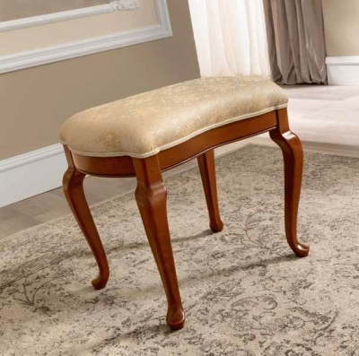 Camel Treviso Night Cherry Wood Italian Eco Pouf