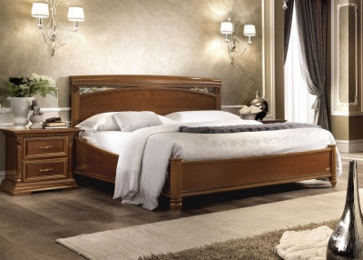 Camel Treviso Night Cherry Wood Italian Ring Bed