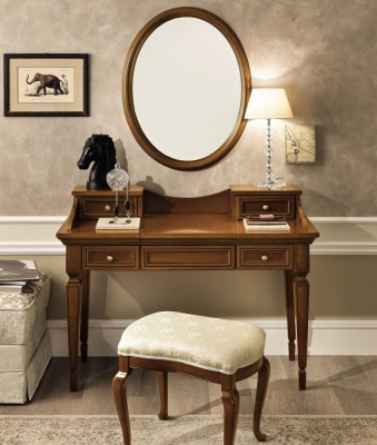 Camel Treviso Night Cherry Wood Italian Writing Desk