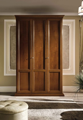 Camel Treviso Night Cherry Wood Italian Wardrobe
