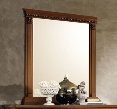 Camel Treviso Night Cherry Wood Italian Rectangular Mirror - 88cm x 106cm