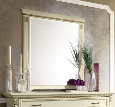 Camel Treviso Night White Ash Italian Rectangular Mirror - 88cm x 106cm