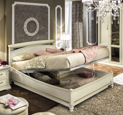 Camel Treviso Night White Ash Italian Storage Ring Bed
